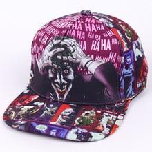 DC Comic Джокер Фирменная Кепка с плоским козырьком модный принт для мужчин и женщин регулируемая бейсболка s для взрослых хип-хоп шляпа