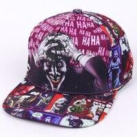 DC Comic Джокер Фирменная Кепка с плоским козырьком модная печать для мужчин и женщин регулируемые бейсболки для взрослых хип-хоп шляпа