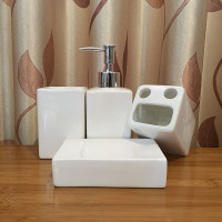 Ceramic Bathroom Product Set 4 pcs set Bathroom Produc Set with Soap Dish Gargle Cup Brush Tooth Cup