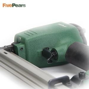 Image 2 - Pistolet cloueur pneumatique fivepoars pistolet à ongles droit agrafeuse de clouage pneumatique agrafeuse à fil de meubles F30