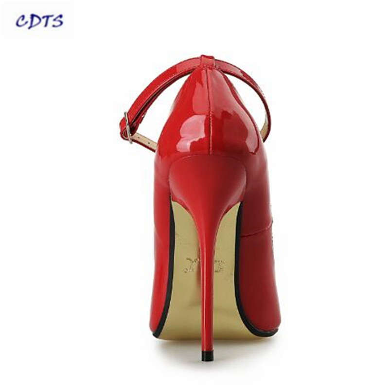 Summer Crossdresser Pointed Toe 14CM Ultra High thin heels Sexy Gold  Bottoms shoes woman party Cosplay pumps be486fc2eb5a