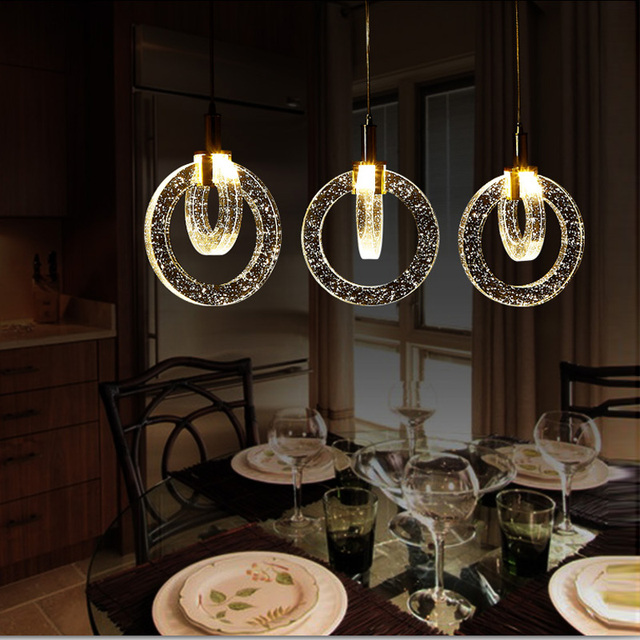 Modern Kitchen Pendant Single Crystal Pendant Lamp Dining Room Light Bar Led  Lights Pendant Lamp Study