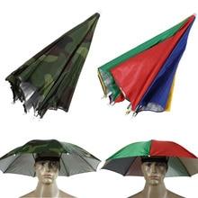 Portable Outdoor Sports Sun Shade Umbrella Hat Cap Folding Women Men Umbrella Fishing Hiking Golf Beach Headwear UmbrellaISP