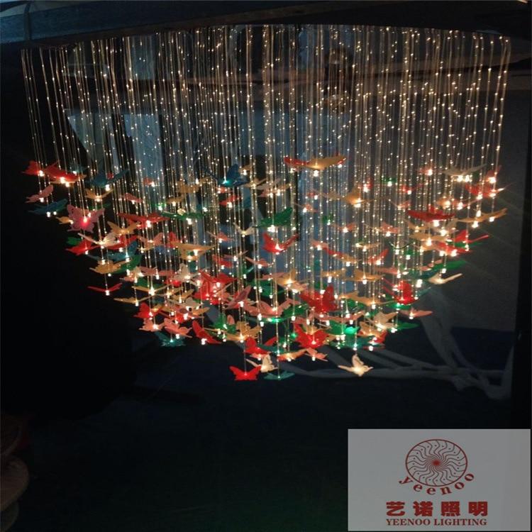 fiber optic star ceiling kit butterfly bedroom lamp creative fashion