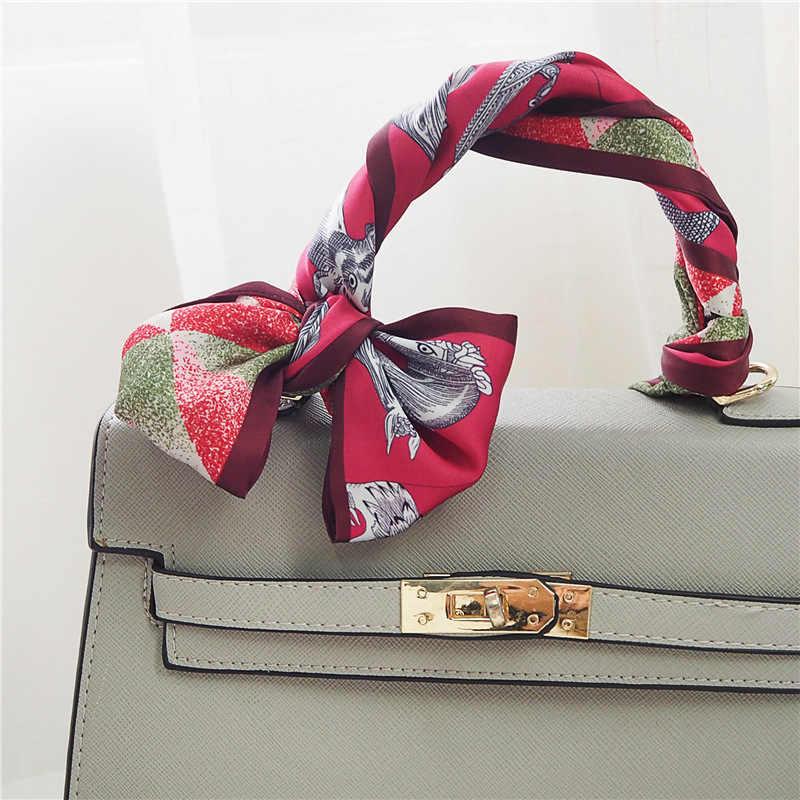 2019 春夏新薄型狭スキニースカーフ多機能ファッションの女性の小さなスカーフ用ハンドルスカーフ