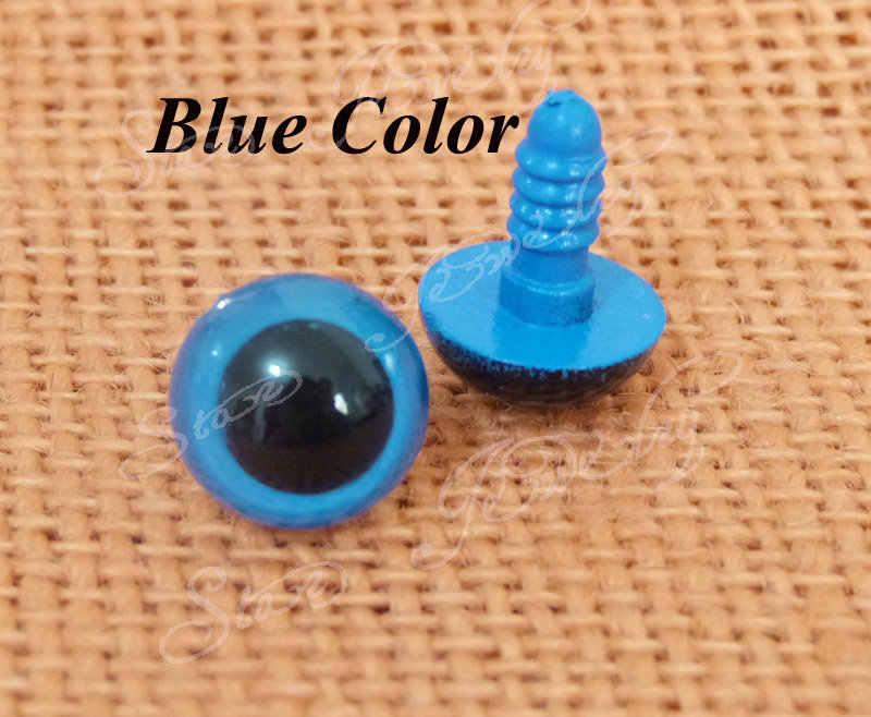 300 шт. --- 9 мм To14mm-синий цвет игрушки пластиковая безопасности глаза с шайбой для плюшевый медведь кукла аксессуары --- размер вариант