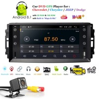 Android 8.1 Car radio 7 For Jeep Grand Cherokee Dodge Chevrolet Charger Chrysler 300C Player SWC DVR TPMS DAB Free rear camera