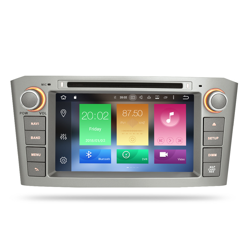 Image 2 - 7'' IPS 4G RAM Android 8.0 Car DVD GPS Navigation Player For Toyota Avensis/T25 2003 2008 WIFI FM Video Radio Stereo Multimedia-in Car Multimedia Player from Automobiles & Motorcycles