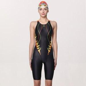 Image 2 - Yingfa treinamento profissional competição maiô feminino corrida de secagem rápida anti cloro banho feminino 635