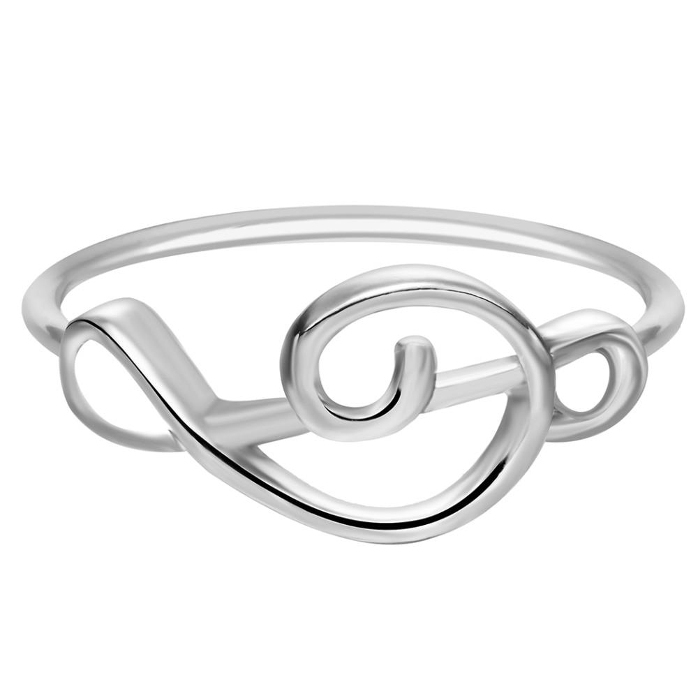Violinschlüssel Ring silber