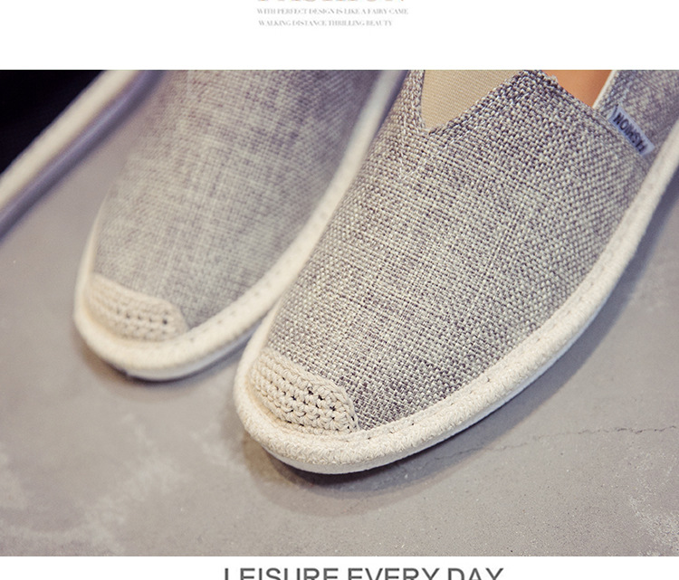 HTB17cZyNNTpK1RjSZFMq6zG VXaW UPUPER Breathable Linen Casual Men's Shoes Old Beijing Cloth Shoes Canvas Summer Leisure Flat Fisherman Driving Shoes Wicking