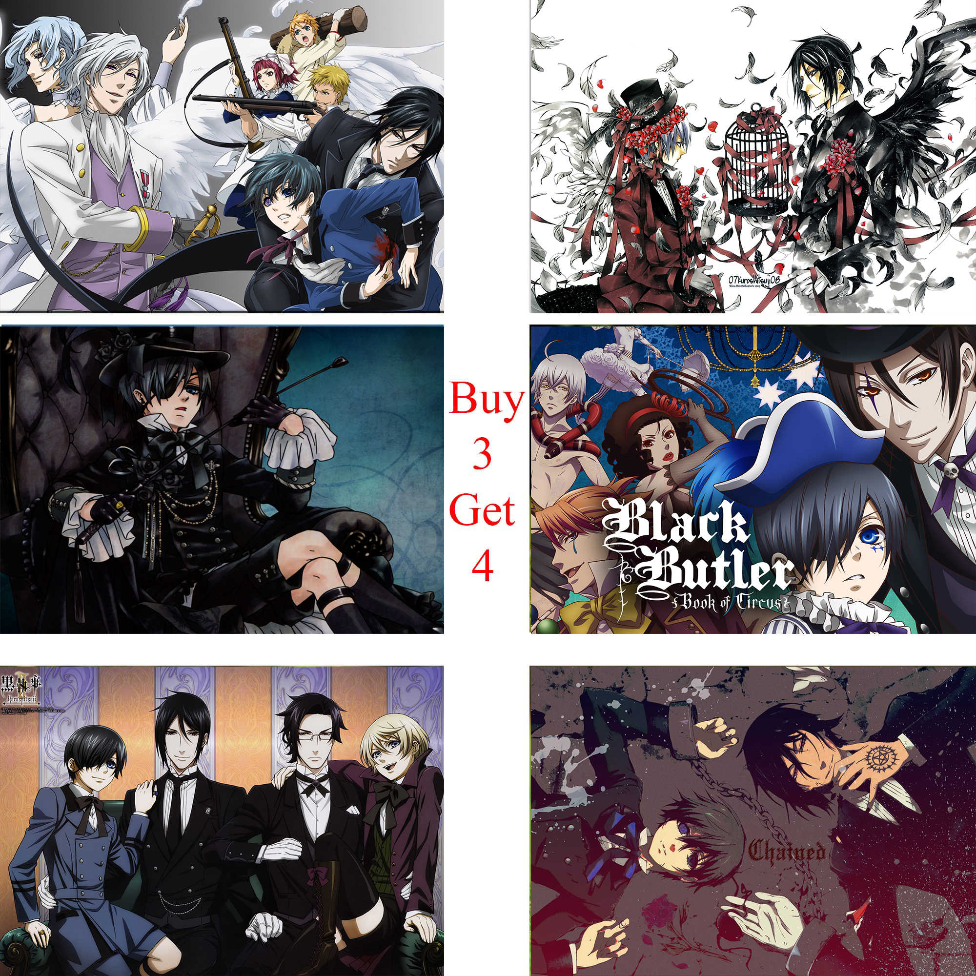Black Butler Poster Clear Image Wall Stickers Home Decoration High