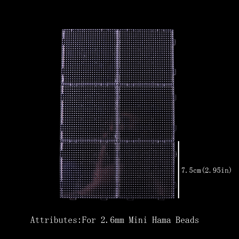 Pegboards 2.6mm Mini Hama Artkal Beads Connect Small Size Board Mini 2.6mm Fuse/Hama/Perler Artkal Beads Panels Plastic
