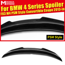 купить For BMW F82 F83 M4 420i 428i PSM Style Convertible Coupe Carbon Fiber Rear Trunk Spoiler Tail Wing car styling Accessories 2013+ дешево