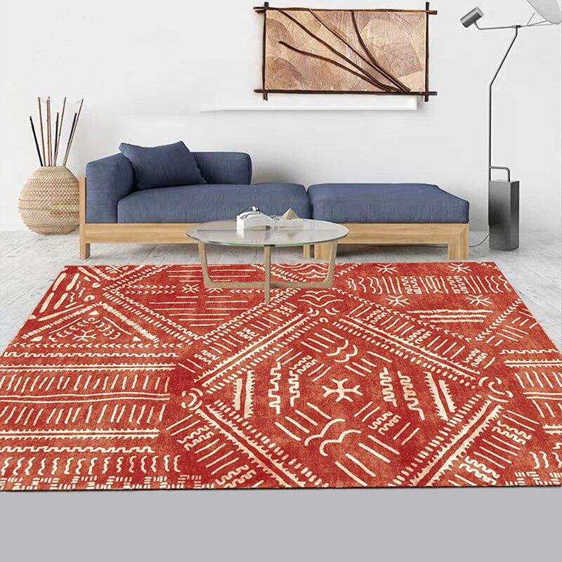 Tapis minimaliste nordique salon enfant canapé table chambre chevet rouge tapis cuisine bohème étude salle de bain tapis maison