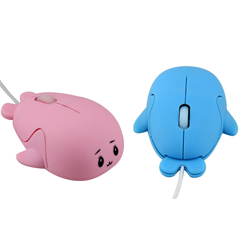 New Arrival USB Luminous Dolphin Type Cute Mouse Fashion Cartoon Mouse With 3D Operation Feeling For Computer Laptop Notebook