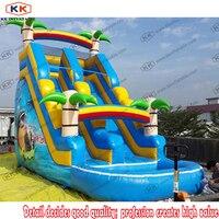 Домашний слайд взорвать надувной дети воды слайдов игровой центр лягушатник весело