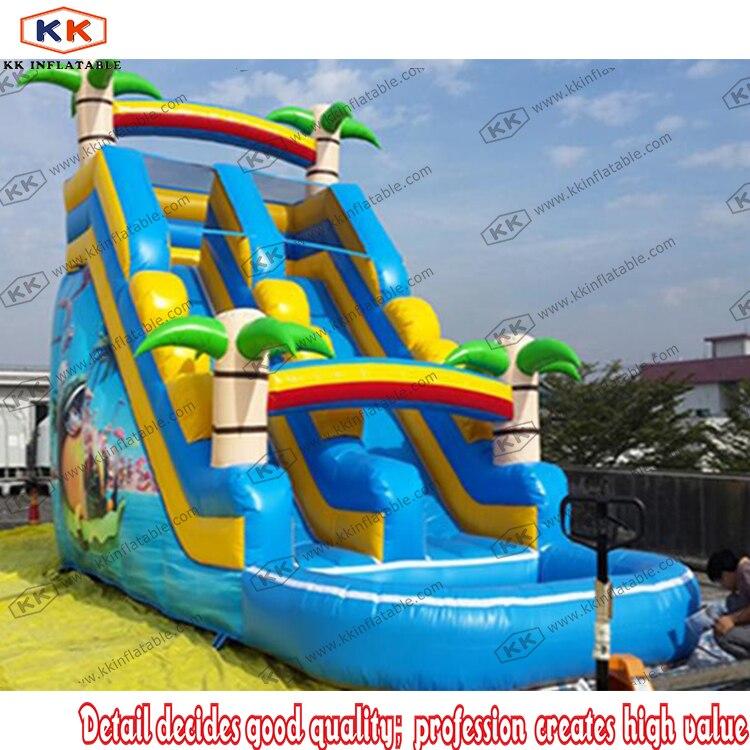 Homemade Slide Blow Up Inflatable Kids Water Slide Play Center Splash Pool Fun