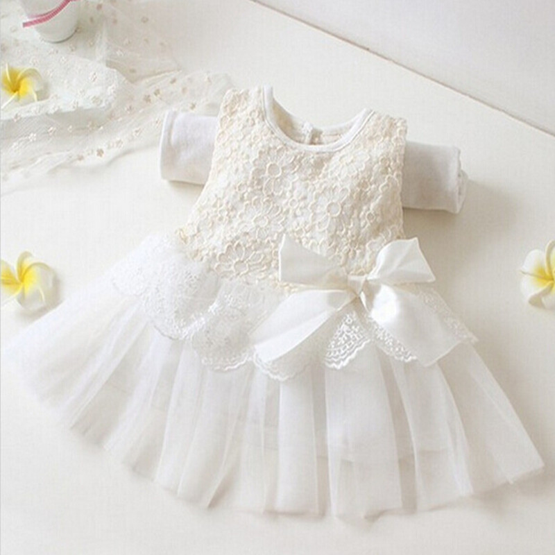 8e95c15334c9 2016 Rushed Limited Bow Vestido Newborn Baby Girl Christmas Dress Infant  Dresses Bpatism 1 Year Birthday Party Princess 50067 -in Dresses from  Mother   Kids ...