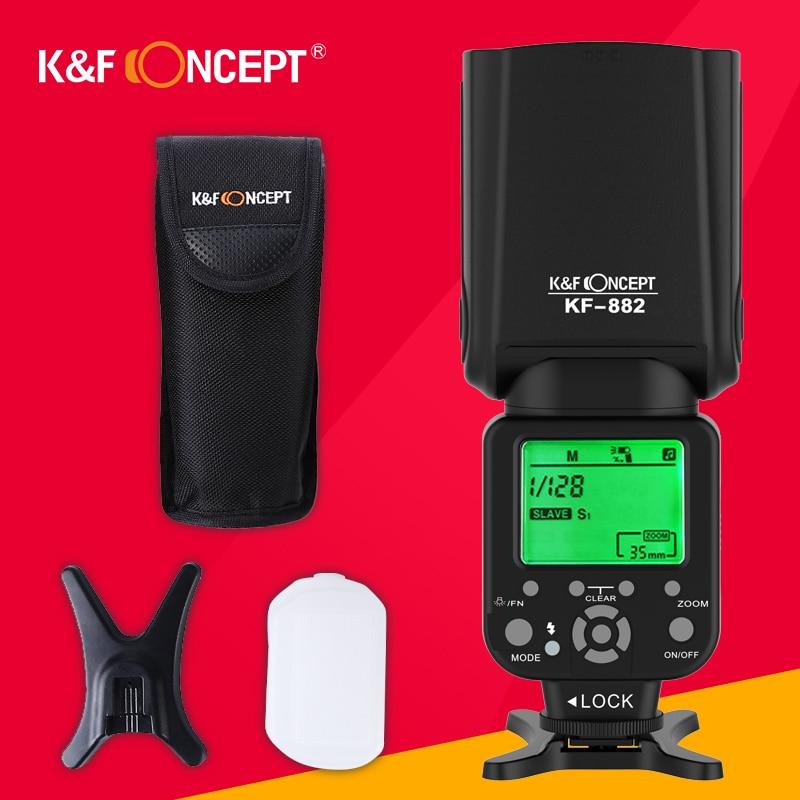K&F CONCEPT KF882 Wireless Flash Speedlite TTL HSS High Speed Sync 1/8000s Master Slave GN58 for Nikon Canon DSLR Camera краска для волос u s sources 881 882 883 884