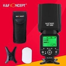 K & F концепция KF882 Беспроводной flash Скорость Lite TTL HSS высокая Скорость синхронизации 1/8000 s мастер раб GN58 для Nikon Canon DSLR Камера