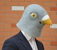 Hot Grau Creepy dove Maske Kopf für Halloween Party Dekorationen Prop Neuheit Latex Perfekte Suchen 20 stücke