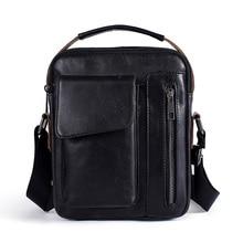 Small Genuine Cowhide Leather Men's Shoulder Bag Clutch Handbag Messenger Male Bags Crossbody Top Handle Sling Bag Zipper
