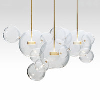 KINLAMS Creative Clear Glass Bubble Ball Post Modern Led Pendant Lamp For Dining Room Living Room