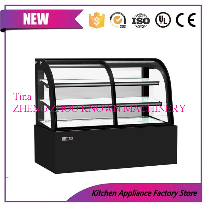 Cake Bread Showcase Display Refrigerator With Curved Glass Door/Cake Display Case Chiller/Cake Display Cabinet Freezer