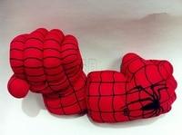 2017 sıcak kek gibi satmak Örümcek-adam boks eldivenleri El PP peluş oyuncaklar 25 cm avengers ittifak Büyük eldiven kaptan Amerika 3