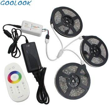 LED Strip Light 5050 RGBW 5M 10M 15M 20M Diode LED Tape RGB Stripe Waterproof DC 12V Flexible LED Ribbon RF Controller Adapter
