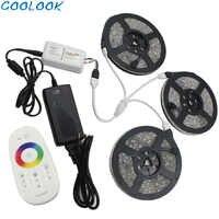 Bande de lumière LED 5050 RGBW 5M 10M 15M 20M bande de diode LED RGB bande étanche DC 12V Flexible ruban LED adaptateur de contrôleur RF