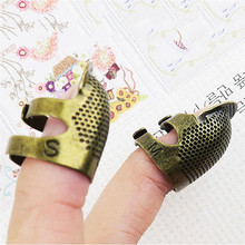 1pcs Retro Metal Copper Thimble Protector Rings Needlework Accessories Adjustable Tools Free Shipping 2019