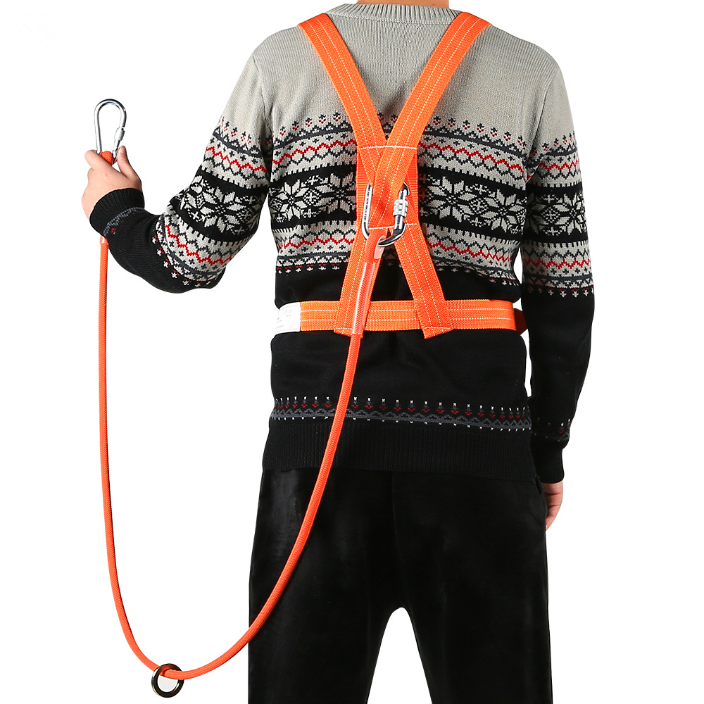 New high quality seat belts Aerial five point outdoor construction wear resistant climbing safety belt safety rope jjff|Climbing Accessories| |  - title=