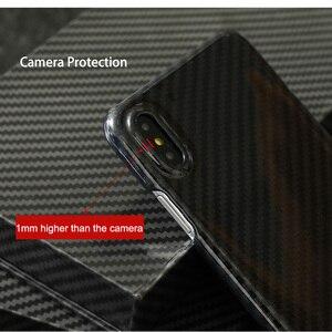 Image 4 - 0.7 مللي متر رقيقة جدا ريال ألياف الكربون الحال بالنسبة آيفون X الغطاء الخلفي الفاخرة حماية كاملة نمط ألياف الكربون ل iPhone X
