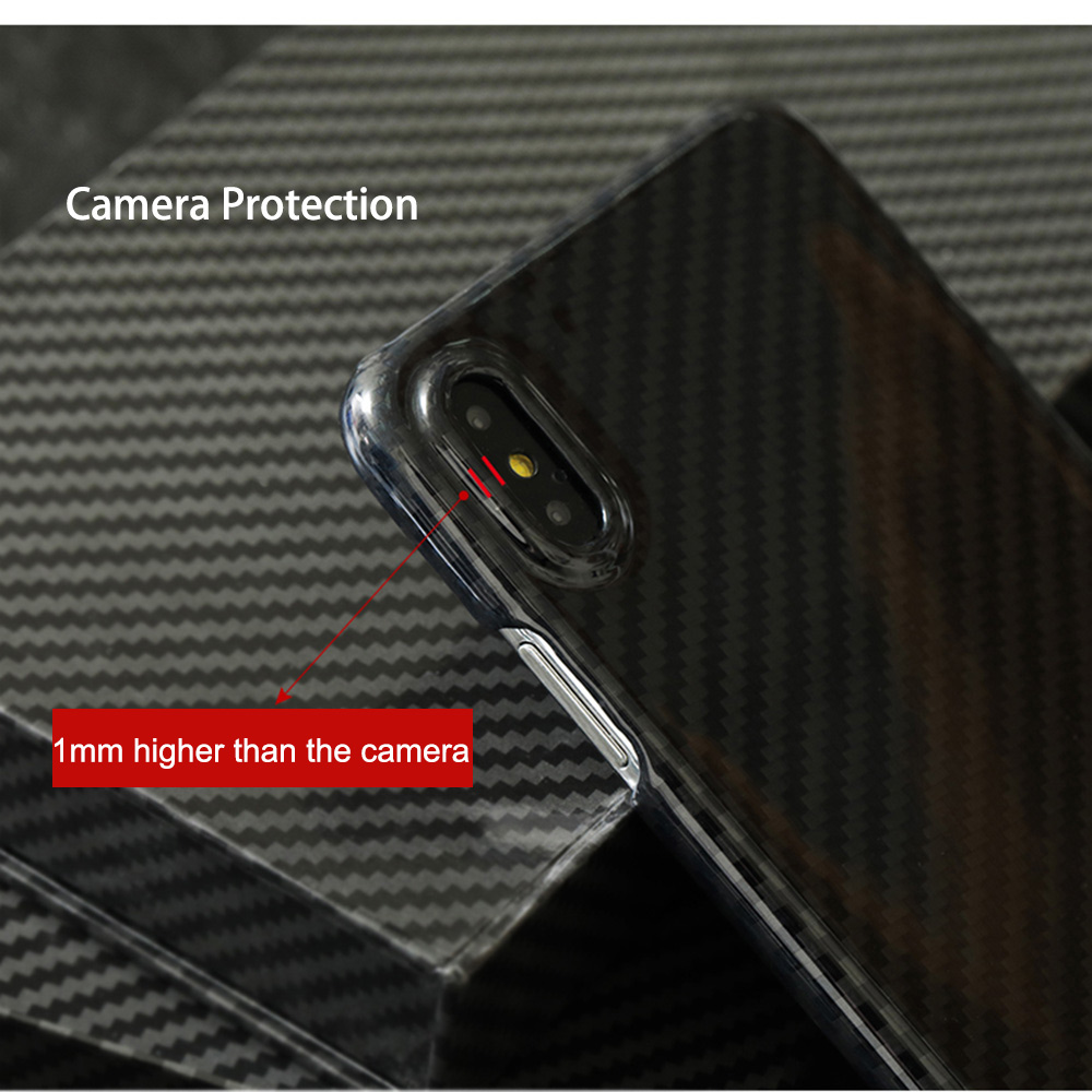 Image 4 - 0.7mm Ultra Thin Real Carbon Fiber Case for iPhone X Back Cover  Luxury Full Protection Carbon Fiber Pattern for iPhone X CaseFitted  Cases