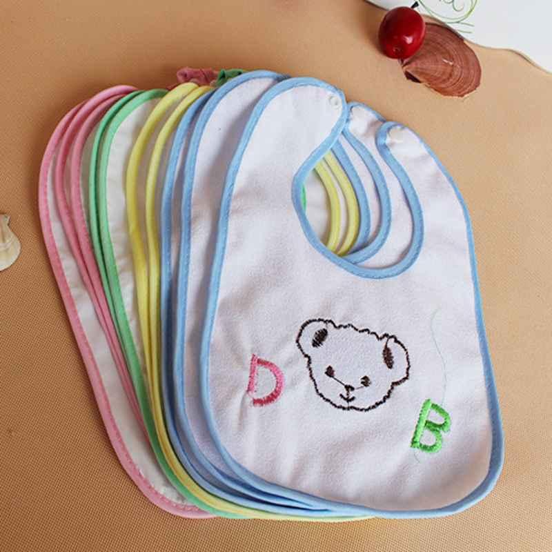 Wash Cloths As Burp Cloths: 6pcs Baby Bibs Infant Saliva Towels Newborn Wear Burp