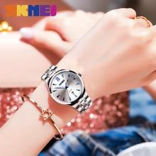цена на SKMEI Women's Watch Clock Men's Watch Top Brand Luxury Quartz Ladies Wrist Watch Fashion Water Resistant relogio feminino 9071