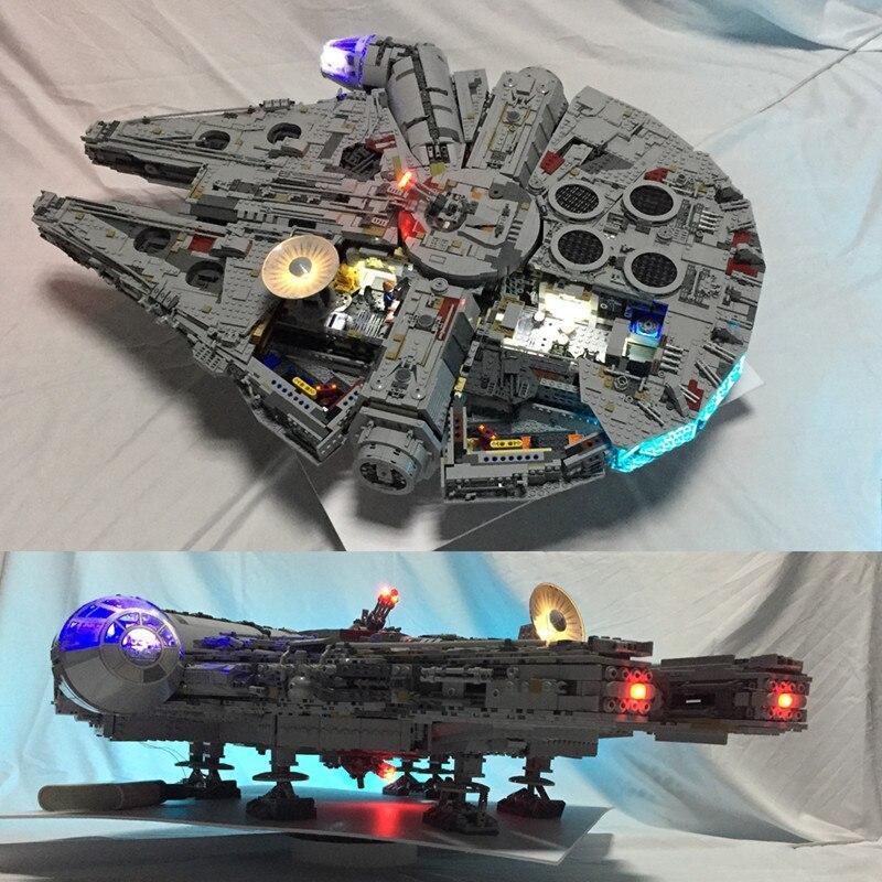 Светодиодный свет комплект для lego 75192 и 05132 Звездные войны Сокол Тысячелетия строительные блоки модель светодио дный не включает блоки комп...