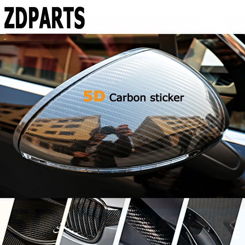 ZDPARTS 200*1520mm Car Styling 5D Carbon Fiber Vinyl Stickers For Bmw E46 E39 E60 E90 E36 F30 F10 X5 E53 E34 E30 Lada Seat Leon