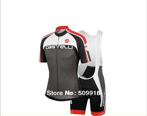 59b875a83 New Castelli Men s Short Sleeve Cycling Jersey Set Ropa Ciclismo Breathable  MTB Team Bike Clothes Anti-UV Bicycle Clothing Suit