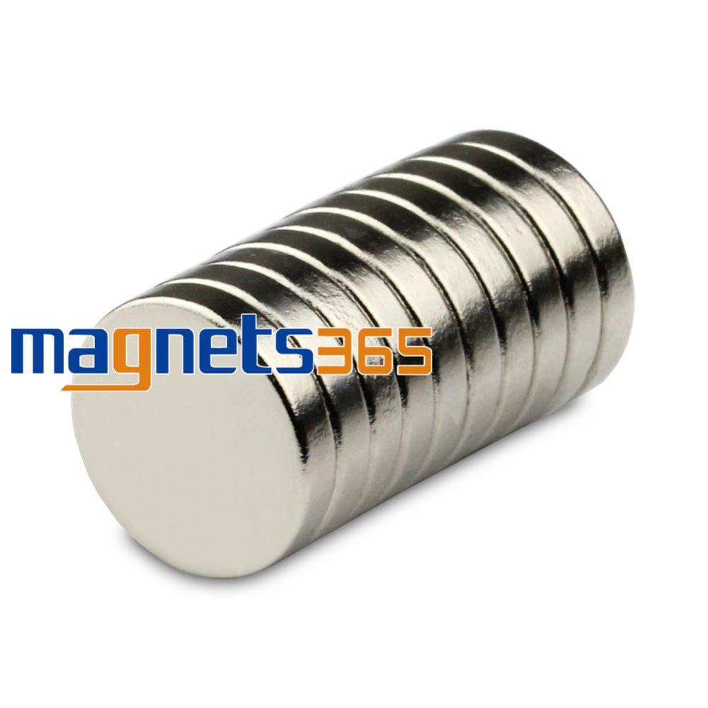 OMO Magnetics 10pcs 15mm x 3mm N50 Grade Neodymium Magnets Small Disc Round Cylinder Rare Earth Magnets