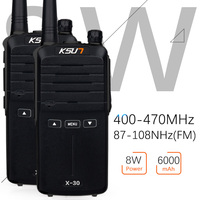 2pcs KSUN X 30 Handheld Walkie Talkie Portable Radio 8W High Power UHF Handheld Two