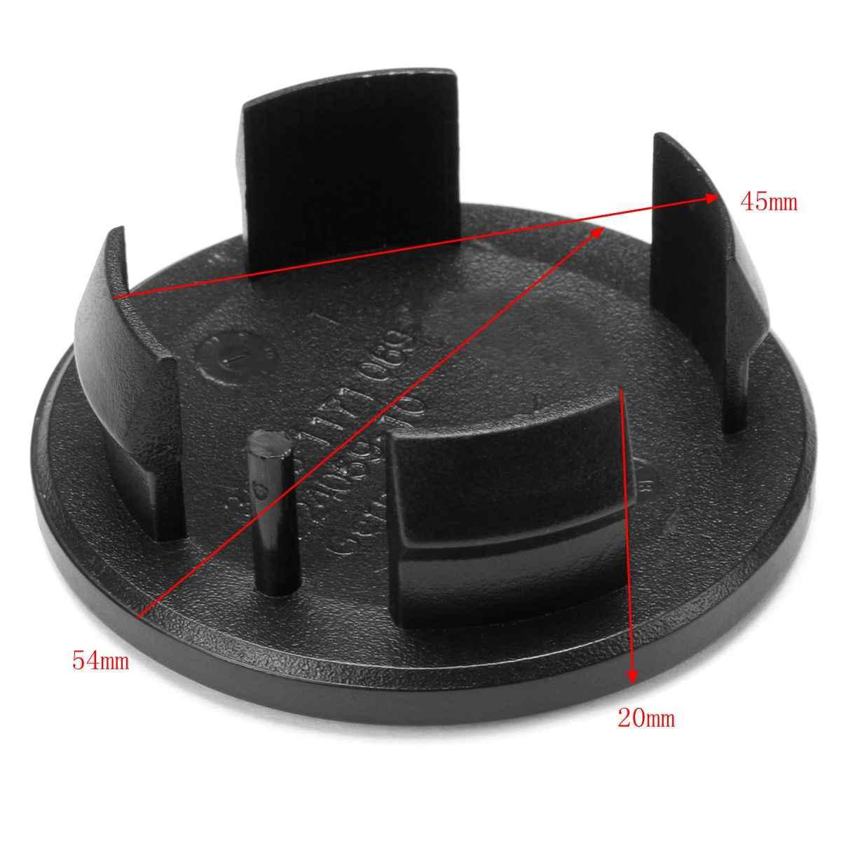4 sztuk 54 MM środek koła samochodowego Hub kapsle ochronne znaczek z symbolem dla Mini Cooper czarne plastikowe