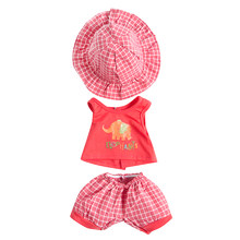 1Pcs Suit Fit For 43cm Baby Doll Children Best Gift For 18 Inch American Girl Doll Lovely Fancy Jeans Shirt Pleated Skirt Dress(China)