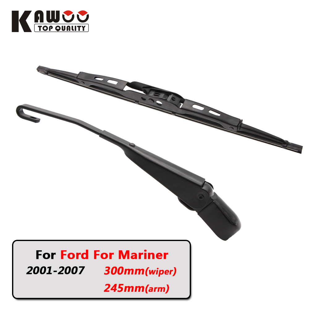 Kawoo car rear wiper blades back window wipers arm for ford for mariner hatchback 2001
