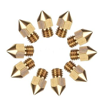 10 Pcs MK8 Extruder Nozzle For 3D Printer CR-10 5 Different Size 0.2mm 0.4mm 0.6mm 0.8mm 1.0mm