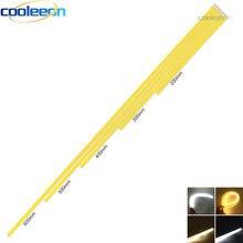 O branco puro morno 60cm conduziu luzes da barra para a lâmpada de iluminação da exposição 10 pces 12v pode ser escurecido cob conduziu a tira clara 20cm 30cm 40cm 50cm