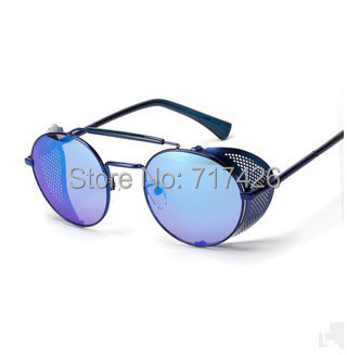 VWKTUUN Steampunk Femmes lunettes de Soleil Vintage Grand Cadre Lunettes de  Soleil Pour Hommes Miroir Lunettes de lunettes de Soleil Surdimensionnées  ... c1594101e9d1