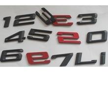 цена на Black ABS Plastic Number Letters Word Trunk Badge Emblem Emblems Decal Sticker for BMW 1 2 3 4 5 6 7 Series X1 X3 X4 X5 X6 GT